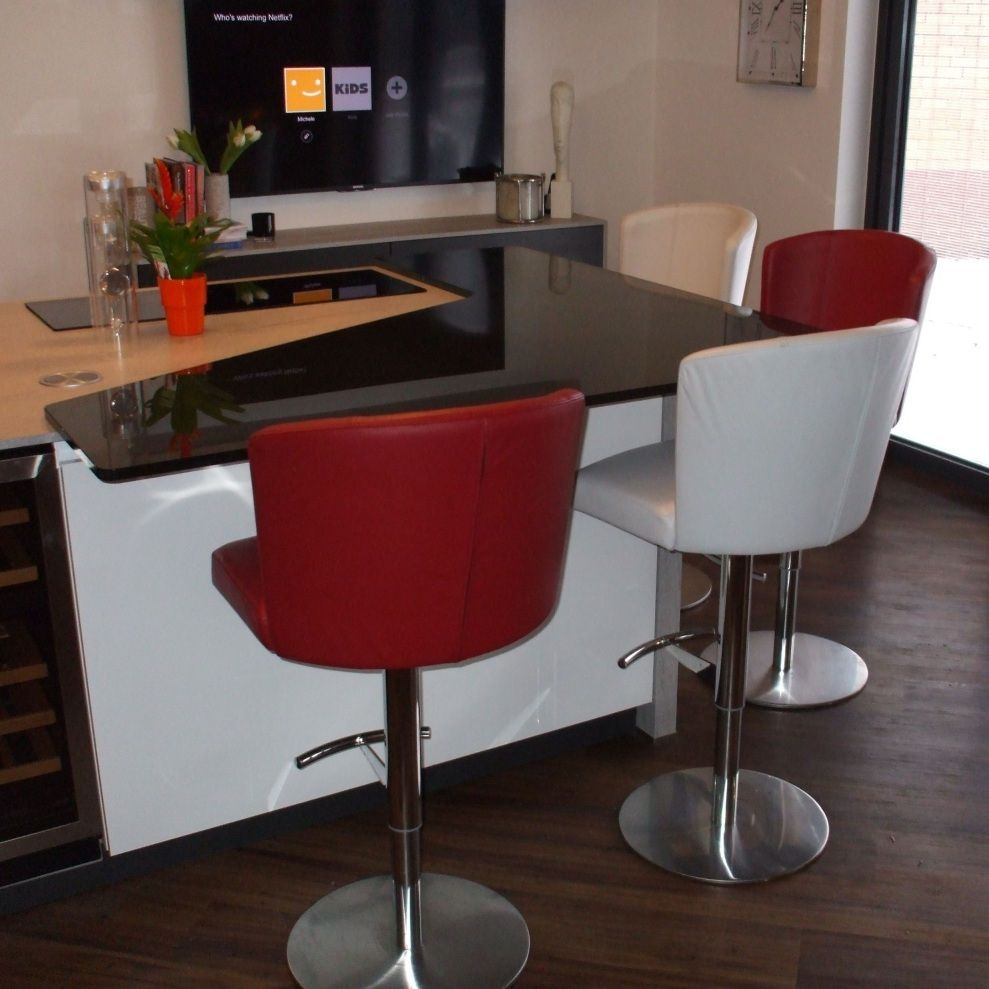 Doris Adjustable Bar stool - 20 Colours of Real Leather  | Breakfast Bar Stools