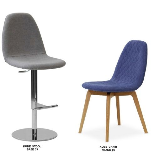 Kube Bar Stool and Chair