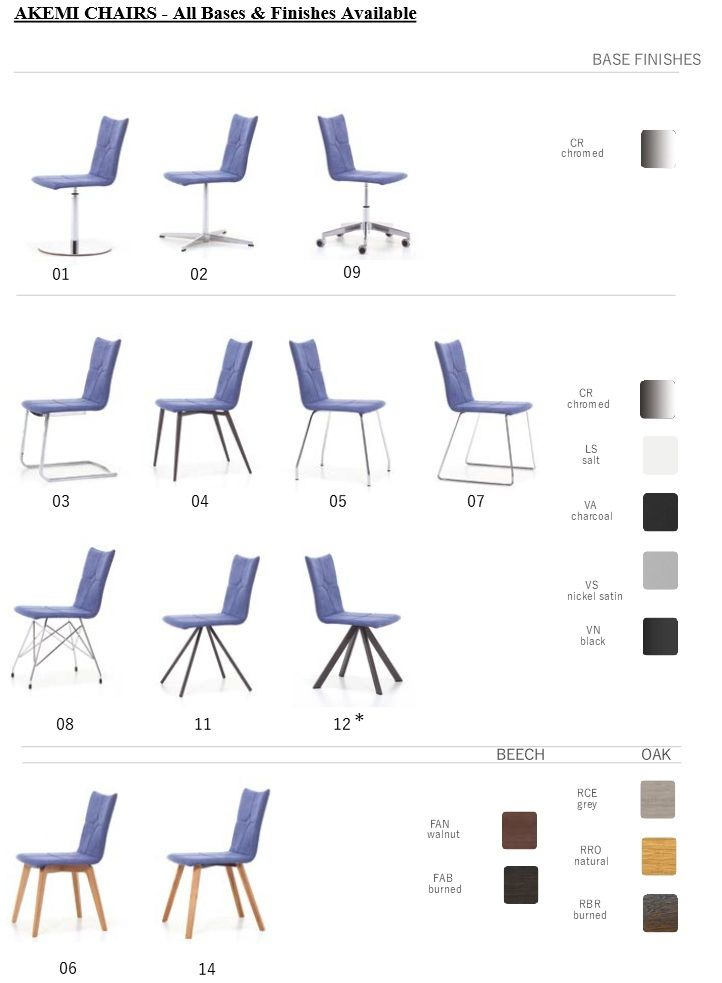 Akemi Chairs - All Available Bases