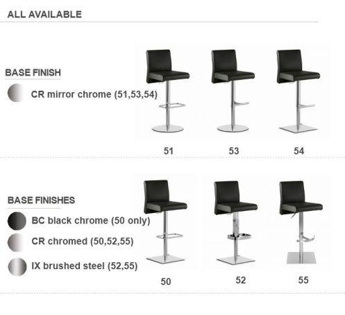 Center Stools - 6 Bases Available
