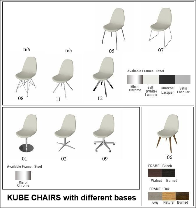 Kube Chairs - 9 Bases Available