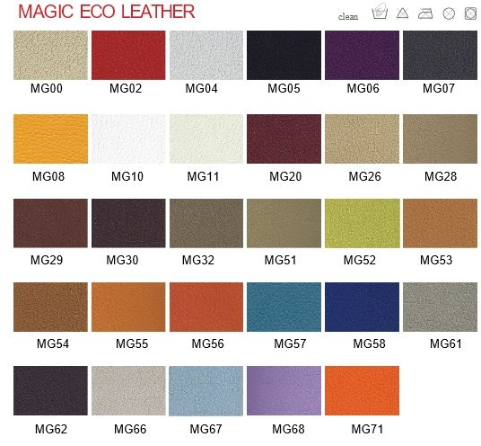 Magic Eco Leather Sample Card